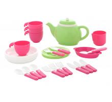 Игровой набор детской посуды на 4 персоны (28 элементов) (в сеточке) арт. 61409. Полесье