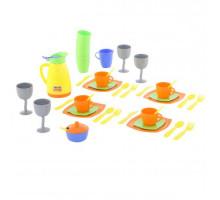 Игровой набор посуды  Праздничный  (в сеточке) арт. 71514. Полесье