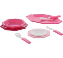 Набор детской посуды  Ретро  (8 элементов) (в сеточке) арт. 61690. Полесье