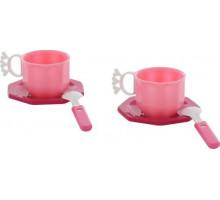 Игровой набор детской посуды  Ретро  на 2 персоны (6 элементов) (в сеточке) арт. 61676. Полесье