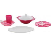 Детская посуда  Ретро  (9 элементов) (в сеточке) арт. 61706. Полесье