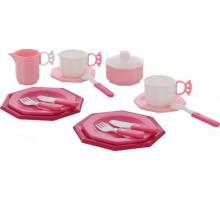 Игровой набор посуды  Ретро  (17 элементов) (в сеточке) арт. 61720. Полесье