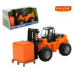 Детская игрушка Полесье автокар + конструктор Супер-Микс - 30 элементов на поддоне (в коробке) арт. 1640