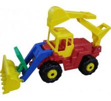 Детская игрушка Батыр трактор-экскаватор арт. 46758. Полесье