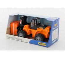 Детская игрушка Автокар + конструктор Супер-Микс - 30 элементов на поддоне (в коробке) арт. 36759. Полесье