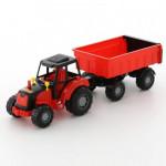 Трактор с прицепом №1 детская игрушка Полесье Мастер арт. 35257