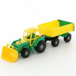 Игрушка трактор с прицепом №1 и ковшом Мастер арт. 35264. Полесье