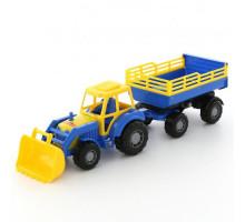 Полесье трактор с прицепом №2 и ковшом Мастер арт. 35288