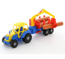 Игрушка трактор с полуприцепом-лесовозом Алтай арт. 35370. Полесье