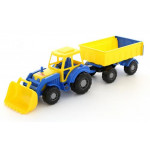 Детская игрушка Полесье  трактор с прицепом №1 и ковшом Алтай арт. 35349