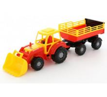 Детская игрушка Алтай трактор с прицепом №2 и ковшом арт. 35363. Полесье