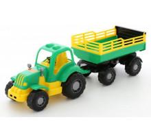 Детская игрушка Полесье трактор с прицепом №2 Силач арт. 44969