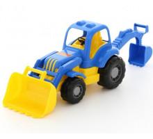 Детская игрушка  трактор-экскаватор Силач арт. 45065. Полесье