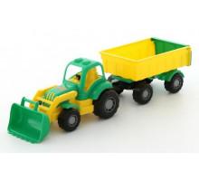Детская игрушка трактор с прицепом №1 и ковшом Крепыш арт. 44556. Полесье