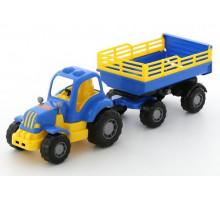 Игрушка Полесье Крепыш трактор с прицепом №2 арт. 44563