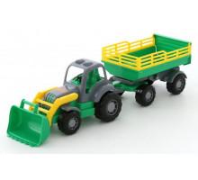 Полесье  трактор с прицепом №2 и ковшом  Крепыш арт. 44808