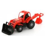 Игрушка детская трактор-экскаватор Крепыш арт. 44785. Полесье