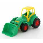 Детская игрушка Полесье Чемпион трактор с ковшом (в сеточке) арт. 0476