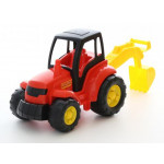 Игрушка детская Полесье трактор с лопатой (в сеточке) Чемпион арт. 0568