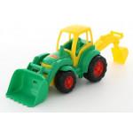 Детская игрушка Чемпион трактор с лопатой и ковшом цвет салатовый (в сеточке) арт. 0513. Полесье