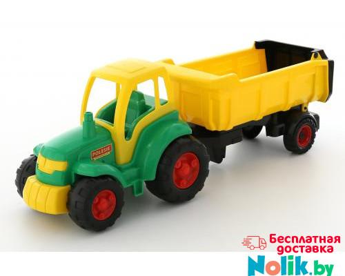 Детская игрушка трактор с полуприцепом Полесье Чемпион (в сеточке) арт. 0445 в Минске