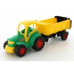 Детская игрушка трактор с полуприцепом Полесье Чемпион (в сеточке) арт. 0445
