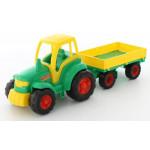 Детская игрушка трактор с прицепом (в сеточке)  Полесье Чемпион арт. 0551