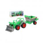Детская игрушка Полесье Фермер-техник трактор-погрузчик с полуприцепом (в коробке) арт. 37756