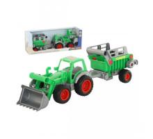 Детская игрушка Фермер-техник трактор-погрузчик с полуприцепом №2 (в коробке) арт. 46505. Полесье
