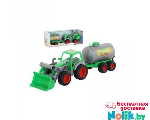 Детская игрушка  трактор-погрузчик с цистерной Фермер-техник  (в коробке) арт. 37763. Полесье в Минске