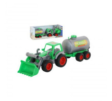 Детская игрушка  трактор-погрузчик с цистерной Фермер-техник  (в коробке) арт. 37763. Полесье