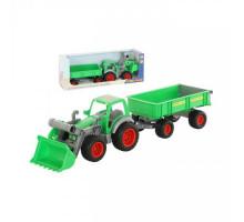 Детский трактор-погрузчик с прицепом Полесье Фермер-техник  (в коробке) арт. 37770