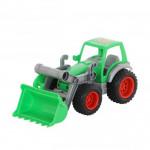 Детская игрушка Полесье трактор-погрузчик  Фермер-техник (в сеточке) арт. 8848