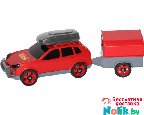 Детская игрушка автомобиль легковой с прицепом (в сеточке) арт. 53688. Полесье в Минске
