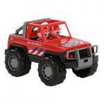 Детская игрушка автомобиль-джип пожарный Сафари (NL) (в сеточке) арт. 71095. Полесье
