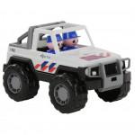 Детская игрушка автомобиль-джип полиция Сафари (NL) (в сеточке) арт. 71101. Полесье