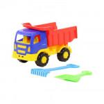 Детская игрушка автомобиль-самосвал + лопатка,  грабельки малые №3 автомобиль + набор №303: Тёма арт. 3307. Полесье