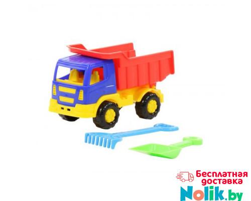 Детская игрушка автомобиль-самосвал + лопатка,  грабельки малые №3 автомобиль + набор №303: Тёма арт. 3307. Полесье в Минске