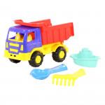 Детская игрушка автомобиль-самосвал + совок, грабельки, кораблик №248 арт. 3505. Полесье