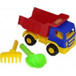 Детская игрушка автомобиль-самосвал + совок, грабельки №188 арт. 8991. Полесье