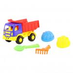 Детская игрушка автомобиль-самосвал + совок, грабельки и 2 формочки №189 арт. 9004. Полесье