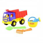 Детская игрушка автомобиль-самосвал + совок, грабельки и лейка малая №190 арт. 9011. Полесье
