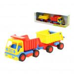 Детская игрушка автомобиль-самосвал с прицепом (в коробке) Базик арт. 37664. Полесье
