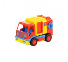 Детская игрушка автомобиль коммунальный, мусоровоз (в сеточке) Базик арт. 9609. Полесье