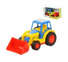 Детская игрушка  трактор-погрузчик (в коробке) Базик арт. 37626. Полесье