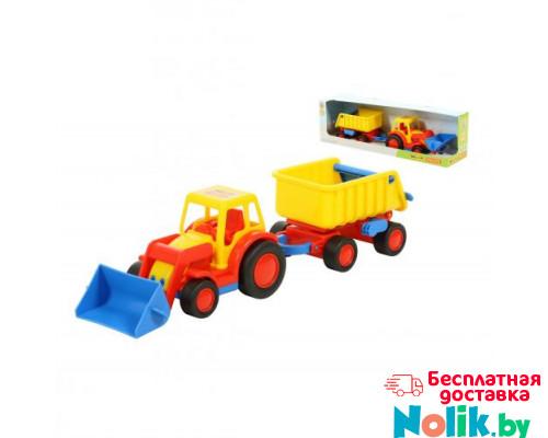 Детская игрушка  трактор-погрузчик с прицепом (в коробке) Базик арт. 37657. Полесье в Минске