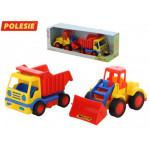 Детская игрушка автомобиль-самосвал + погрузчик (в коробке) Базик арт. 42101. Полесье