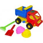 Детская игрушка  машинка + 2 формочки, лопатка, грабельки №12 арт. 1252. Полесье