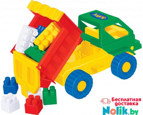 Детская игрушка  машинка Кузя + конструктор СТРОИТЕЛЬ (12 элементов) арт. 1283. Полесье в Минске