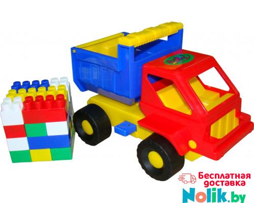 Детская игрушка  машинка Кузя + конструктор СТРОИТЕЛЬ (18 элементов) №16 арт. 1290. Полесье в Минске
